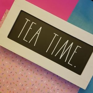 "Rae Dunn ""Tea Time"" Decorative Wood Sign"